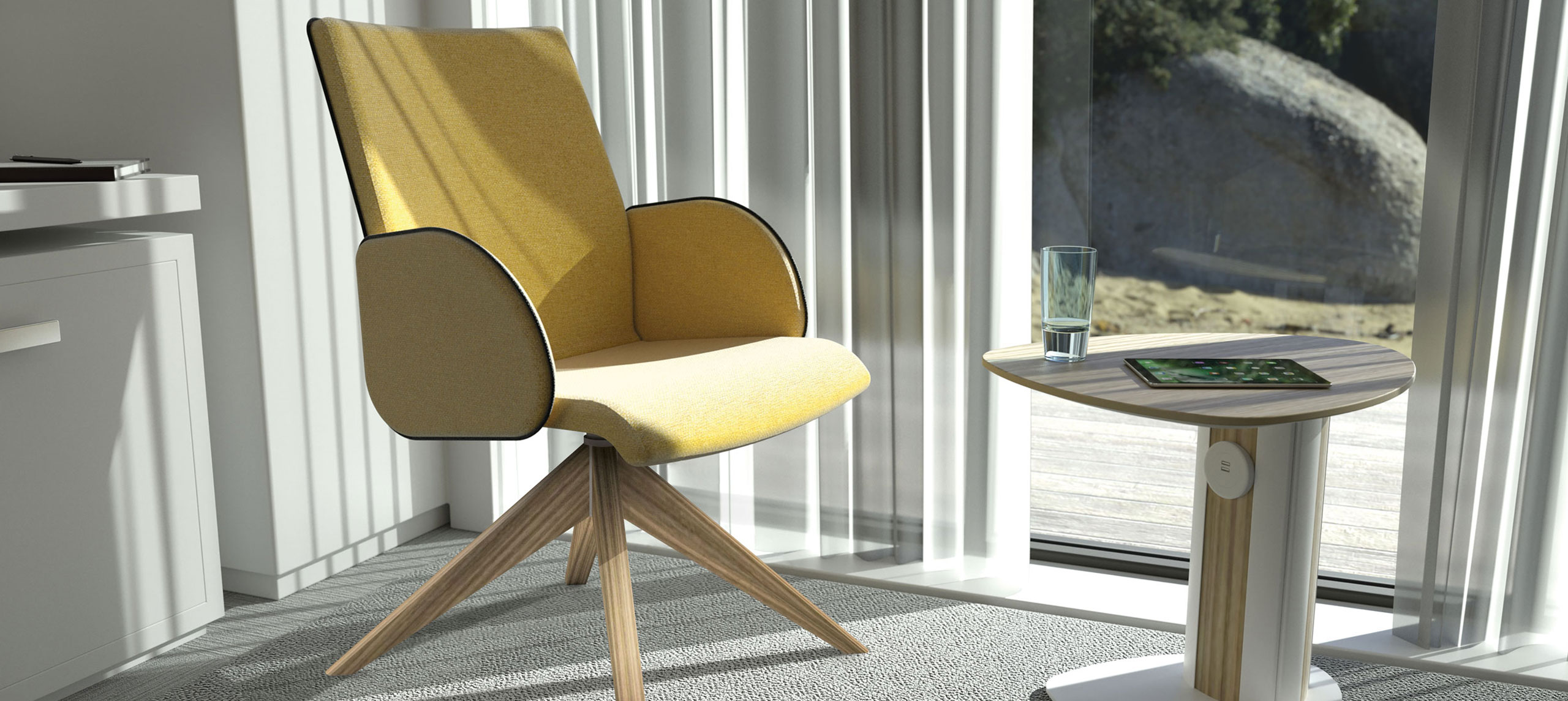 CasuElle 19/5 4 Star Wooden Base Chair Bedroom