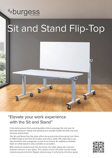 Sit Stand Flip Top Brochure Cover